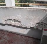 Restauro condominio Roma - dettaglio trattamento dei ferri di armatura